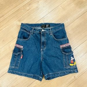 Vintage High Waisted Mickey Shorts